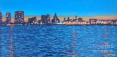 Philly Skyline Poster by Elisabeth Olver