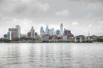 Philly Skyline Poster by Jennifer Ancker