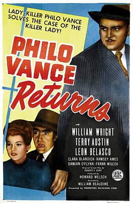 Philo Vance Returns, Us Poster Poster by Everett