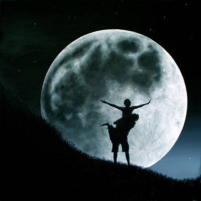 Philos Under A Full Moon Rising Poster