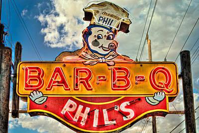 Phils Barbeque Poster by Robert  FERD Frank