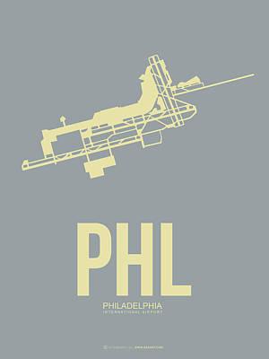 Phl Philadelphia Airport Poster 1 Poster by Naxart Studio