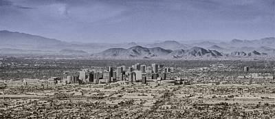 Phoenix Arizona Panorama Poster by John Haldane