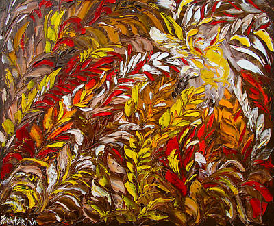 Phoenix Flower Painting Poster