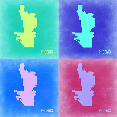 Phoenix Pop Art Map 1 Poster by Naxart Studio