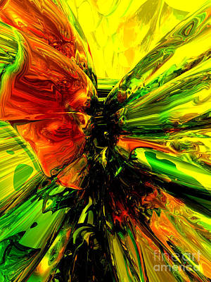 Phoenix Rising Abstract Poster by Alexander Butler