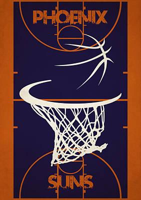 Phoenix Suns Court Poster by Joe Hamilton