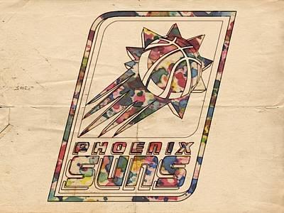 Phoenix Suns Poster Art Poster by Florian Rodarte