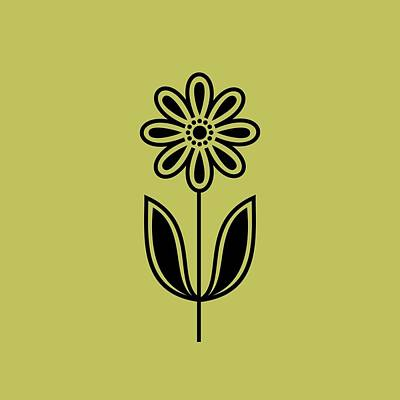 Phone Case Flower 2 On Avocado Poster