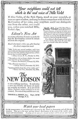 Phonograph, 1916 Poster