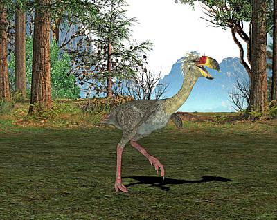 Phorusrhacos Prehistoric Bird Poster by Friedrich Saurer