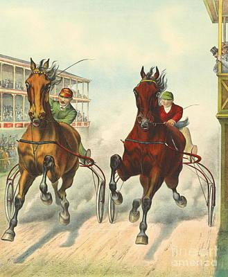 Photo Finish 1893 Poster by Padre Art