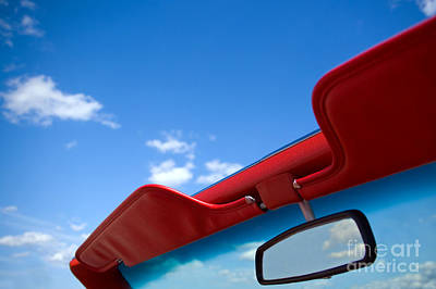 Photo Of Convertible Car And Blue Sky Poster