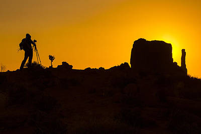 Photographer Monument Valley Poster
