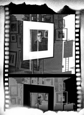 Photographic Artwork Of Woody Allen In A Window Display Poster by Randall Nyhof