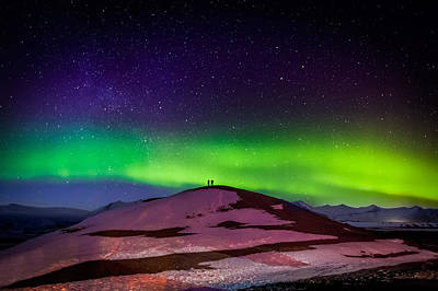 Photographing The Auroras And Icebergs Poster by Panoramic Images