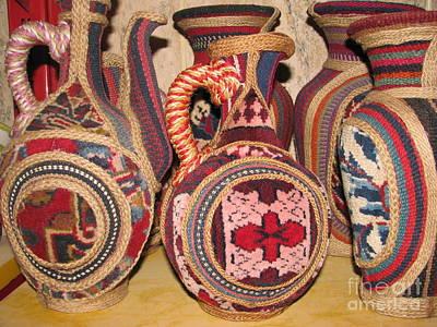 Photos Of Persian Vase Made Of Antique Rug  Kilim  Jajim And Hemp Poster