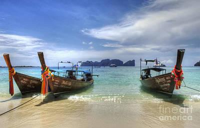 Phuket Koh Phi Phi Island Poster by Bob Christopher