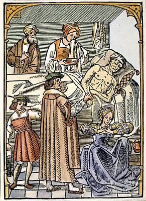 Physician & Plague Victim Poster