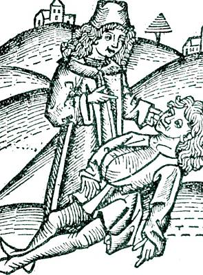 Physician Treating A Victim Of Poisoning Poster