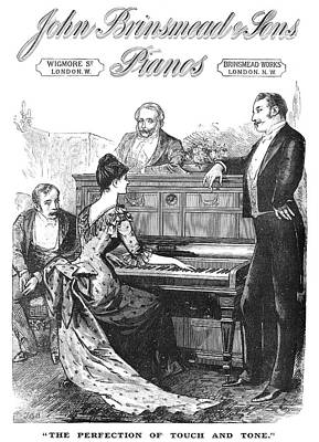 Piano Advertisement, 1888 Poster