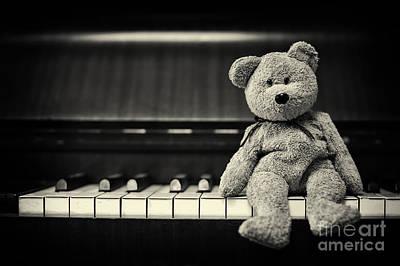 Piano Bear Poster