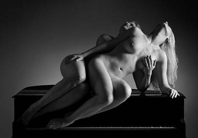 Piano Duet Poster by Dario Infini