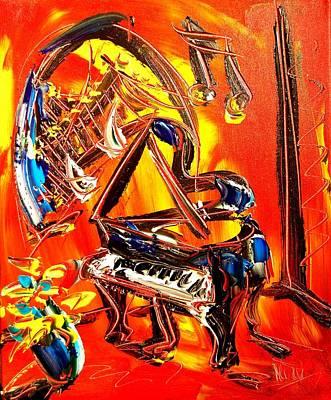 Piano Music Poster by Mark Kazav