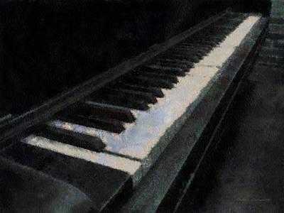 Piano Photo Art 02 Poster