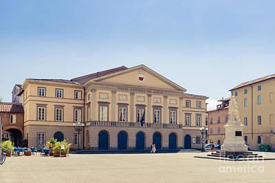 Piazza Del Giglio Teatro Comunale Del Giglio Lucca Tuscany Poster