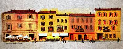 Piazza Del Popolo Poster by William Renzulli