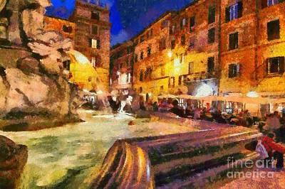 Piazza Della Rotonda In Rome Poster