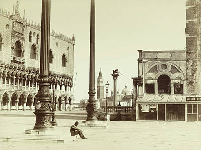 Piazza San Marco Italy, Attributed To Carlo Naya Poster