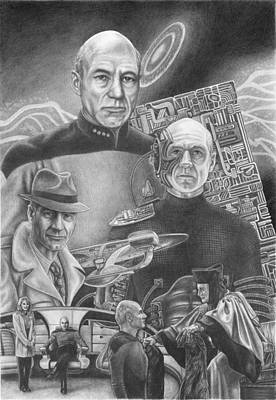 Picard Black And White Poster