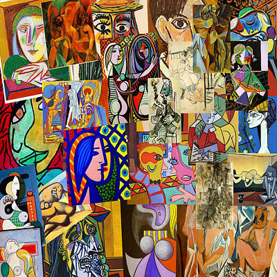 Picasso Collage Poster by Galeria Zullian  Trompiz