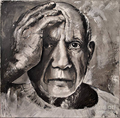 Portrait Of Pablo Picasso Poster by Maja Sokolowska