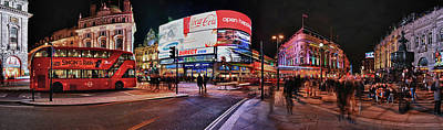 Piccadilly Circus At Night, London Poster