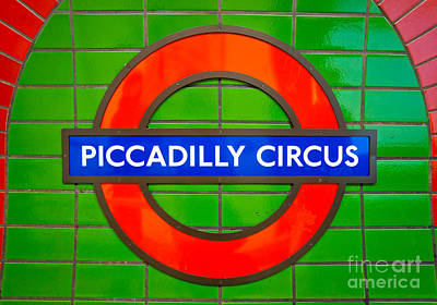Poster featuring the photograph Piccadilly Circus Tube Station by Luciano Mortula