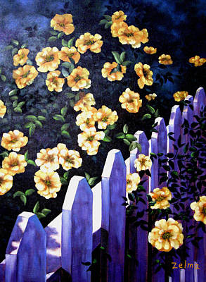 Picket Fence Poster by Zelma Hensel