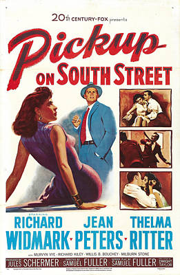 Pickup On South Street - 1953 Poster by Georgia Fowler