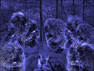 Picky Eaters In The Blue Moonlight Poster by LeeAnn McLaneGoetz McLaneGoetzStudioLLCcom