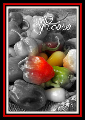 Poster featuring the photograph Picoso Peppers by Heidi Manly