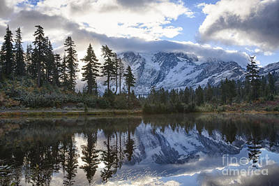 Picture Lake Poster by Idaho Scenic Images Linda Lantzy