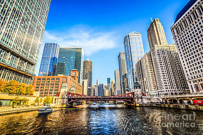 Picture Of Chicago At Lasalle Street Bridge Poster by Paul Velgos