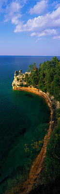 Pictured Rocks National Lake Shore Lake Poster by Panoramic Images