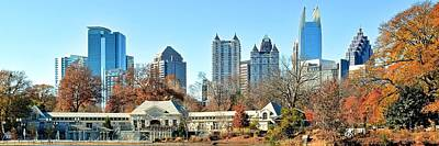 Piedmont Park Panoramic View Of Atlanta Poster by Frozen in Time Fine Art Photography
