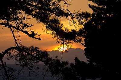 Piedras Blancas Sunset Poster by Jose M Beltran
