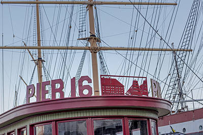 Pier 16 South Street Seaport Nyc Poster by Susan Candelario