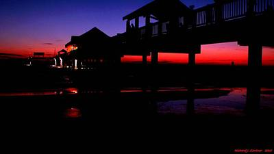 Pier 60 In After Glow 2 Poster by Richard Zentner
