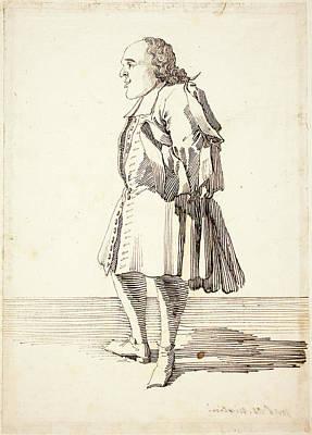 Pier Leone Ghezzi, Italian 1674-1755, Caricature Of A Male Poster